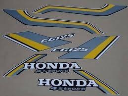 Kit Jogo Adesivo Honda Cg 125 1988 Preta -------frete R$9,90