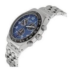 Relógio Swatch Série Prata Cara Preta