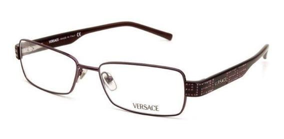 Óculos De Grau Feminino Versace Metal E Acetato Prata