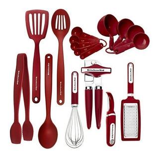 Kit De Cozinha Kitchenaid 17 Unidades - Vermelho