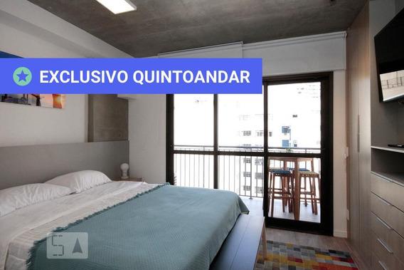 Studio No 11º Andar Mobiliado Com 1 Dormitório - Id: 892980217 - 280217