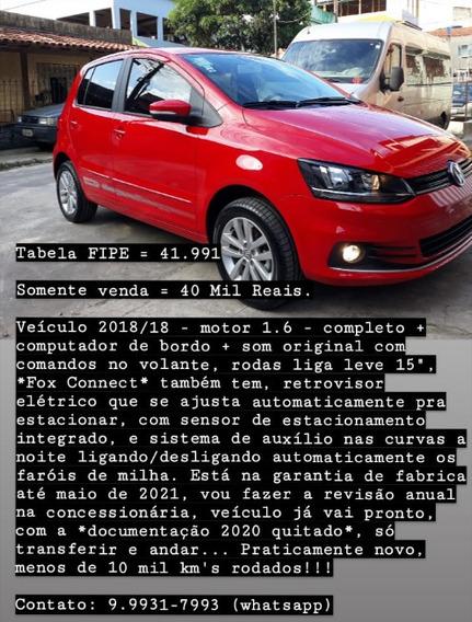 Volkswagen Fox 2018 1.6 Connect Total Flex 5p