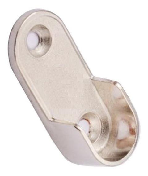 Soporte Lateral Para Caño Oval Placard Mueble X 6 Unidades