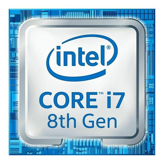 Processador gamer Intel Core i7-8700K BX80684I78700K de 6 núcleos e 4.7GHz de frequência com gráfica integrada