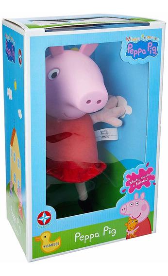 Boneca Peppa Pig Cabeça De Vinil Estrela Original