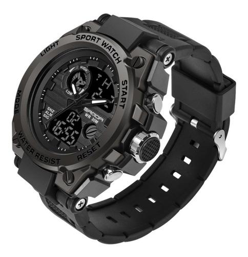 Relógio Masculino Sanda Militar Esportivo Original - Preto