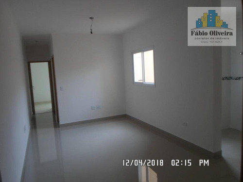 Cobertura Sem Condomínio ,com 2 Dormitórios À Venda, 44 M² Por R$ 270.000 - Vila Pires - Santo André/sp - Co0095