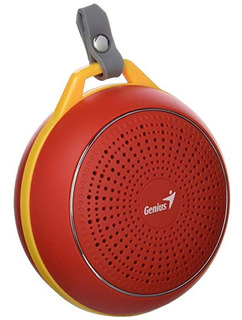 Genius Parlante Portatil Bluetooth 4.1 Rojo Sp-906bt Cuotas