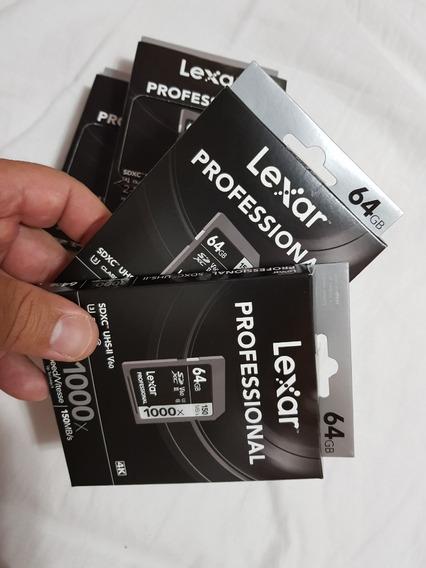 Cartão Memória Lexar 64gb Sdxc 1000x 150 Mb/s (sandisk)