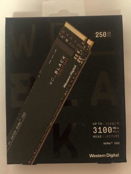 Ssd Wd Black 250 Gb , M2 Nvme ,pró Gamer,garantia 3 Anos