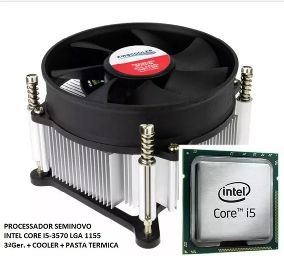Proc Intel Core I5-3570 Lga 1155 + Cooler E Pasta Térmica