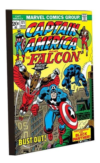 Imã De Mdf - Marvel - Capitão América Capa G