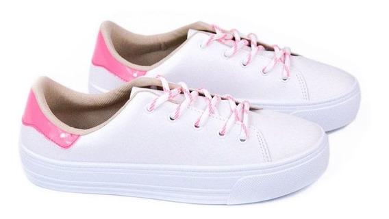 E Tenis Fem 4220.101 Branco Pink Neon Beira Rio 20807