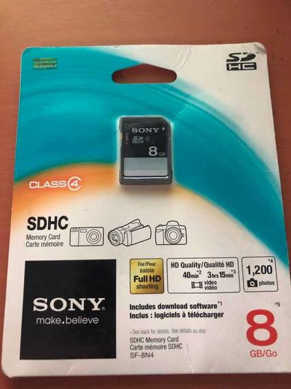 Cartão De Memória Sony 8gb Sdhc
