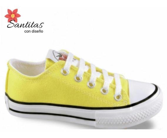 Zapatillas Amarilla Stars De Lona 17 Al 40