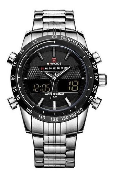 Relógio Naviforce Nf9024, Aço Inoxidável, Resistente À Água