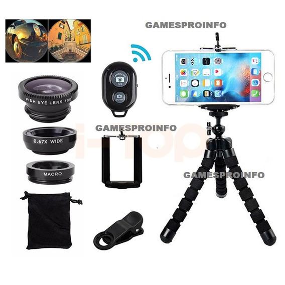 Tripé Foto/vídeotripé+celular+controle+lente+2 Flasch