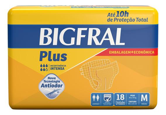 Fralda Geriátrica Bigfral Plus M - 18 Unidades