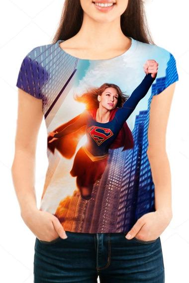 Camiseta Feminina Série Supergirl Personalizada