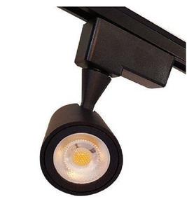 10 Spot Preto P Trilho 12w 840lm Luz Amarela C Frete S Juros