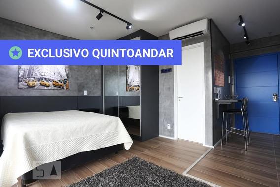 Studio No 24º Andar Mobiliado Com 1 Dormitório E 1 Garagem - Id: 892988023 - 288023