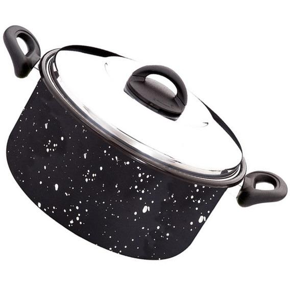 Caçarola Preta Para Cozinhar Comidas Esmaltinox 5,9l Zanella