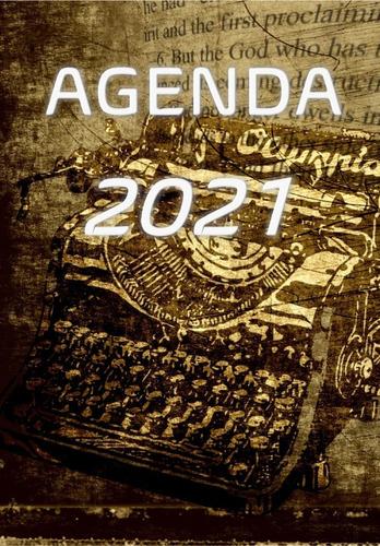 Imagem 1 de 2 de Agenda 2021  Vintage Maquina De Escrever