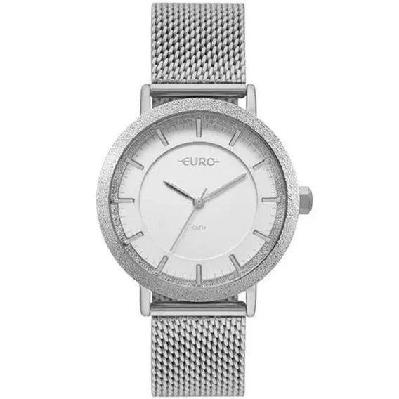 Relógio Euro Feminino Silver Eu2039jk/3k Original Barato