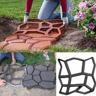 2 Molde Camino Piedras Decorativas Para Jardin Construcción