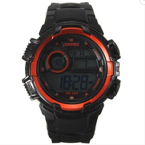 Relógio Skmei Masculino 1113 Digital Laranja Wr 50m
