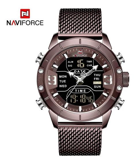 Relógio Masculino Naviforce Nf 9153 Militar Original Promoçã