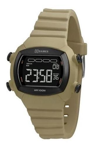 Relógio Digital Verde Militar X-games Orient Original Xgppd1