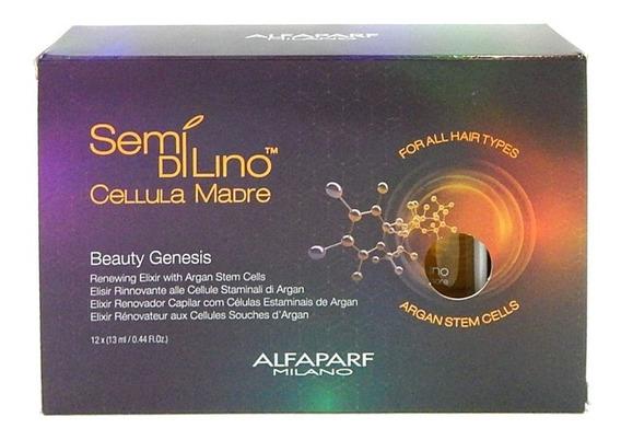 Set 12 Ampollas Alfaparf Semi Di Lino Cellula Madre C/ Argan