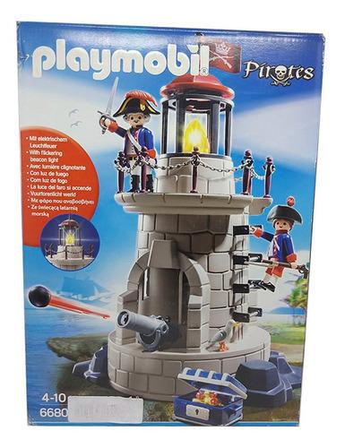 Imagem 1 de 6 de Playmobil Pirates 6680 Soldados Na Torre Do Farol Iluminado