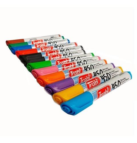 Imagen 1 de 2 de Kit X 12 Marcador Trabi 450 Para Pizarra Colores Surtidos