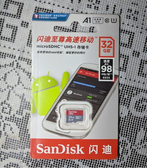 Sandisk A1 Ultra Micro Sdhc Uhs-1 32gb - Cinza E Vermelho