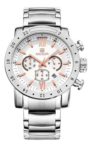 Relógio Masculino Megir 3008 Cronográfo Original