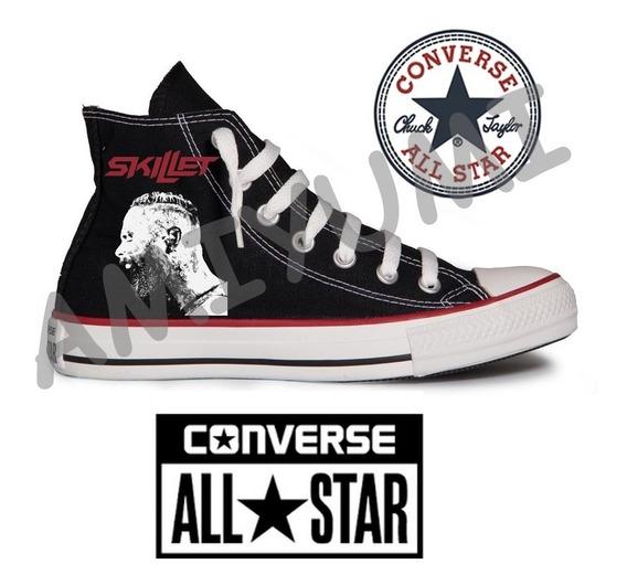 All Star Skillet Converse Tênis Banda Rock Personalizado