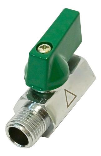Valvula Esferica Mini Bronce 3/8 Rosca Macho/hembra Fiting Shop