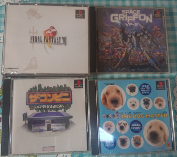 Lote De Jogos Ps1 Final Fantasy Viii 8 Space Griffon