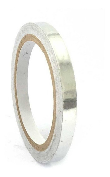Fita Termica Aluminio Alta Temperatura 10mm Rolo 30mts