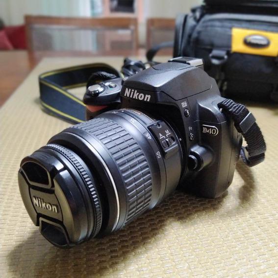 Camera Fotográfica Nikon D40 Profissional Usada Bom Estado