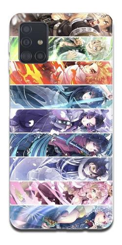 Imagen 1 de 10 de Funda Samsung A31 A21s A11 Kimetsu No Yaiba Demon Slayer 9
