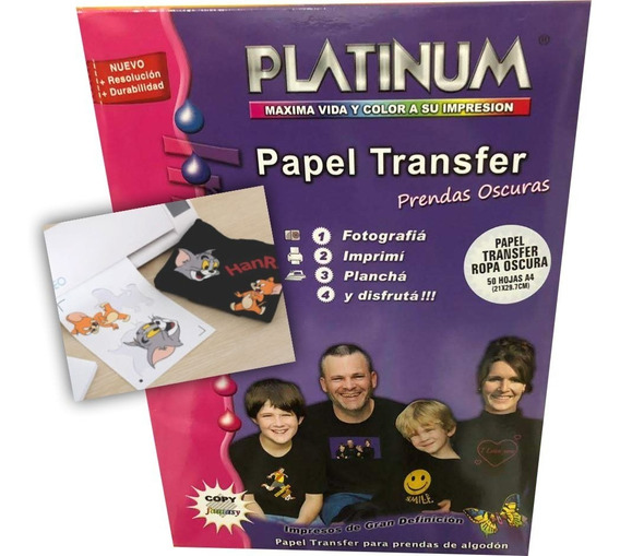 Hojas Transfer A4 P/prendas Oscuras (polgraf)