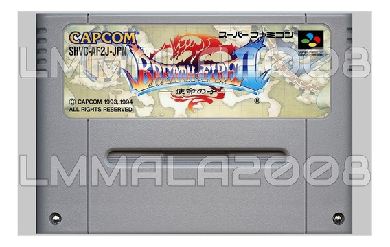 Breath Of Fire 2 Inglês Retrad. Original Snes Super Nintendo