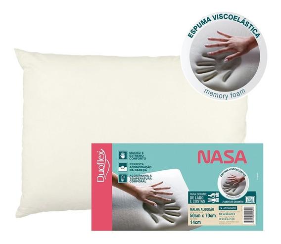Travesseiro Nasa Alto Viscoelástico Altura 14 Cm Duoflex