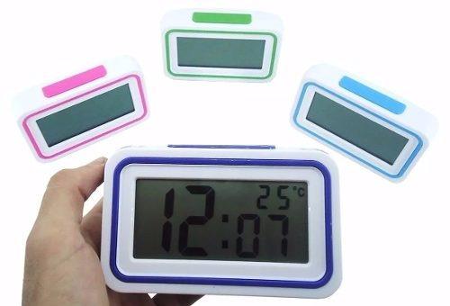 Relógio De Mesa Digital Com Despertador Iluminado Fala Hora