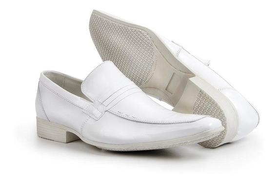 Mocassim Masculino Sapato Casual Em Couro Nobuck Bigioni