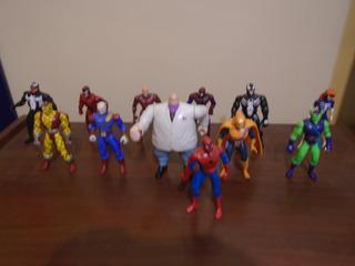 Lote 9 Figuras Marvel Spiderman Animated Series Toy Biz Tas