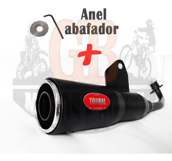 Escape Torbal Nano Baby Preto Titan Fan 125 -150 + Abafador